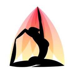 Yoga emblem of abstract stylized person sport vector