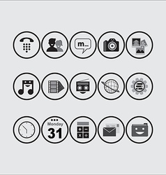 Icon pack bw vector