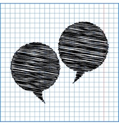 Speech bubble with pen effect on paper vector