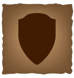 Shield sign vintage effect vector