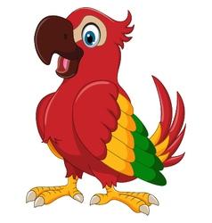 Cute parrot cartoon posing vector