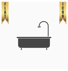 Bathtub flat icon vector image