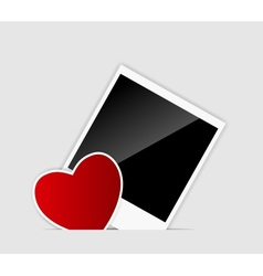 blank Instant photo with heart vector image