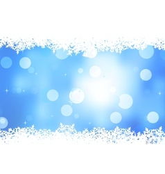 Blue background with snowflakes EPS 8 vector image vector image