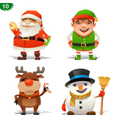 Christmas professions set vector