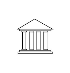 colums building icon vector image