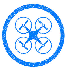 Copter rounded grainy icon vector