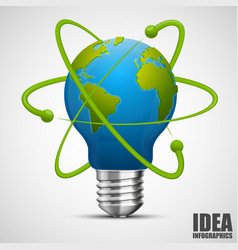 Creative idea earth green energy vector