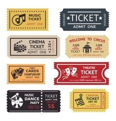Entertainment Ticket Set vector image vector image