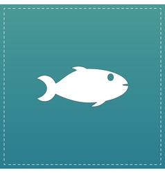 Fish icon on background vector