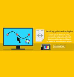 Marking print technologies banner horizontal vector