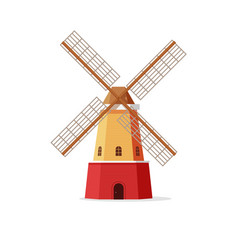 mill flat cartoon windmill vector image vector image