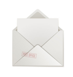 open envelope clean paper isolated vector image vector image