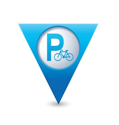 parking bicycle symbol map pointer blue vector image vector image