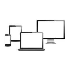 Set of computer devices vector image vector image