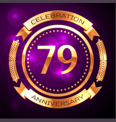 seventy nine years anniversary celebration with vector image vector image