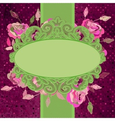Vintage template with flowers EPS 8 vector image vector image