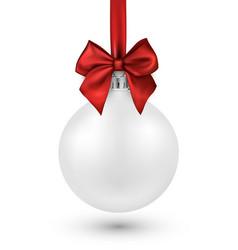 White 3d christmas ball on white vector