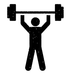Power lifting grainy texture icon vector