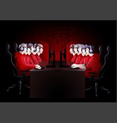 cyber sport team vector image
