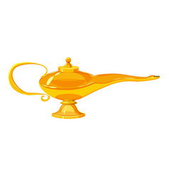 middle east oil lamp icon cartoon style vector image