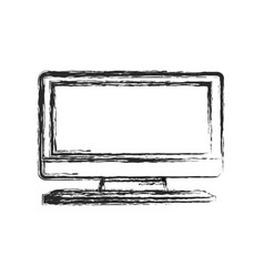 tv screen technology image sketch vector image