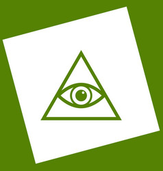 All seeing eye pyramid symbol freemason and vector