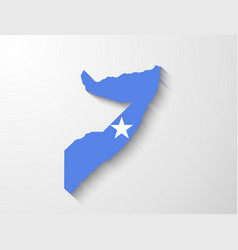 Somalia map with shadow effect presentation vector image