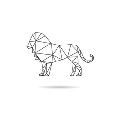 Lion abstract isolated vector image