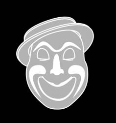 laughing clown vector image