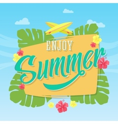 Enjoy summer abstract card poster or vector