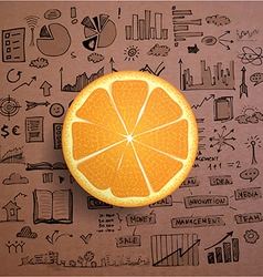 Business infographics - fresh orange idea vector