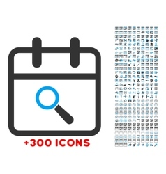Audit date icon vector