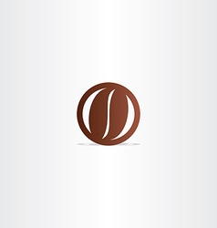 Coffee bean icon design element vector
