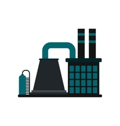 Mining processing plant flat icon vector