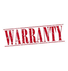 Warranty red grunge vintage stamp isolated on vector