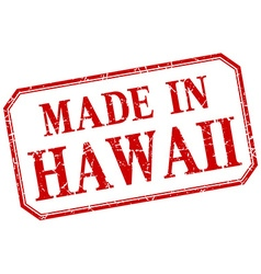 Hawaii - made in red vintage isolated label vector image