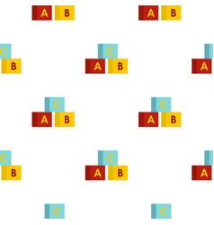Alphabet cubes pattern flat vector