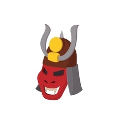 Armour mask icon cartoon style vector