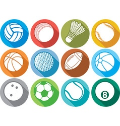 Ball icon set vector