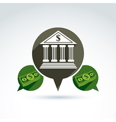 Banking credit and deposit money theme icon vector