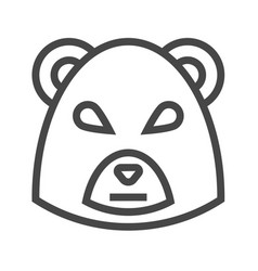 bear market thin line icon vector image