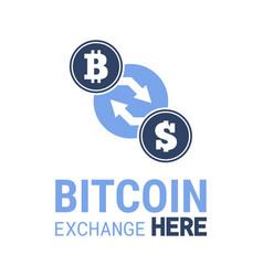 Bitcoin exchange here image vector