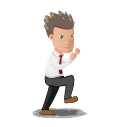 Business man fighting boxer pose vector