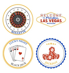 Casino Roulette design elements and badges set vector image vector image