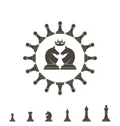 Chess piece logo vector