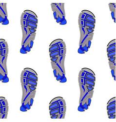 Clean sport shoe imprints vector