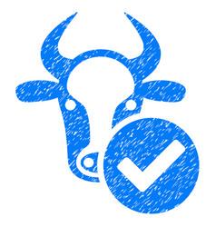 Cow valid icon grunge watermark vector
