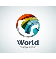 Earth logo template vector image