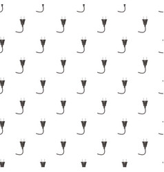 Electricity plug pattern vector